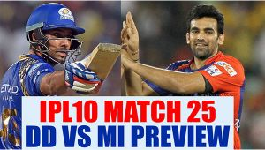 IPL 10: DD vs MI PREVIEW & Prediction, Match 25