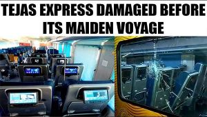 Tejas Express damaged on route to Mumbai from Delhi