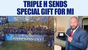 WWE star Triple H sends gift to MI for winning IPL 10 against RPS