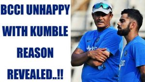BCCI unhappy with India head coach Anil Kumble, reason revealed