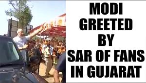 PM Modi in Gujarat greeted by a sea of people, Watch Video