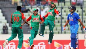 ICC Champions Trophy : India defeats Bangladesh by 240 runs in second warmup match