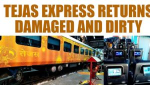 Tejas Express returns damaged, with headphones missing and screens damaged