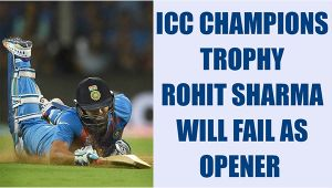 ICC Champions Trophy: Rohit Sharma might fail as opener, says Azharuddin