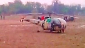 Indian army helicopter makes emergency landing near Jaipur Agra Highway