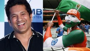 ICC Champions Trophy : Sachin Tendulkar helps his top fan to reach England