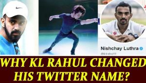 KL Rahul changes his twitter name to support skater Nishchay Luthra