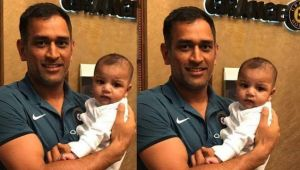 ICC Champions Trophy : MS Dhoni pose with Sarfraz Ahmed's son, wins heart in Pakistan