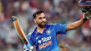 ICC Champions Trophy : Rohit Sharma hits maiden 100 of the tournament