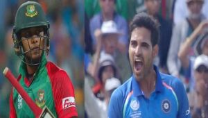 ICC Champions Trophy : Shabbir goes for 19, Bhuvneshar Kumar strikes again