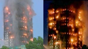 London tower block catches huge fire