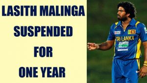 Lasith Malinga suspended for oneyear over monkey remarks