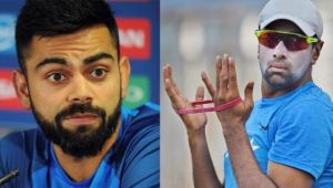 ICC Champions trophy : Virat Kohli reacts on Ashwin's inclusion in team in Ind vs Pak final