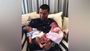 Cristiano Ronaldo blessed with twins share picture on social media