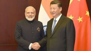 PM modi meets China's President Jinping during SCO summit