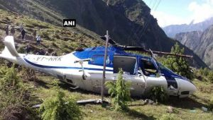 Chopper crashes after take off in Bardrinath, one crew member lost life