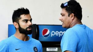 ICC Champions Trophy : Virat Kohli strong objects Anil Kumble continuing as Head coach