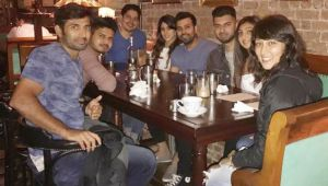Champions Trophy: Rohit Sharma and his wife enjoy meal with friends in London