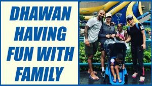 Shikhar Dhawan chilling out with Family in Disneyland