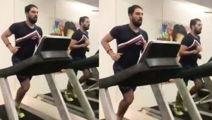 Yuvraj Singh shares picture of sweating out on social media