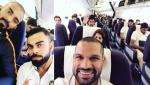 India tour of Sri Lanka: Virat Kohli and Co share inflight pictures on social media