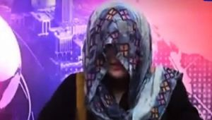 Haryana News Anchor reads Bulletin wearing a veil as mark of protest