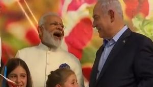 Modi In Israel : Indian PM visits Danziger Flower farm