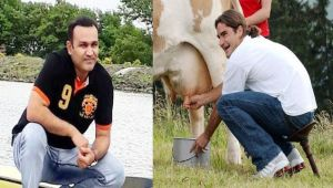 Virender Sehwag posts pictures of Roger Federer with cows on twitter