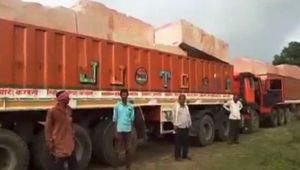 Ram Mandir construction : Stones arrive from Rajasthan in Ayodhya