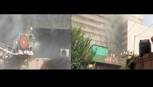 Delhi : Massive fire at Lok Nayak Bhawan complex in Khan Market area, Watch