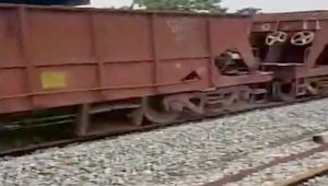 Indian Railways good trains runs wild, drags tractor along, Watch video