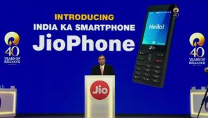 Jio Phone: 4G smartphone launched by Reliance at 40th AGM