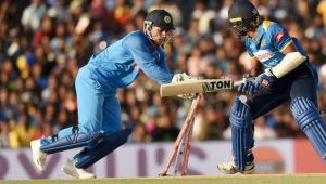 MS Dhoni pulls off another lighting fast stumping during Dumbula ODI