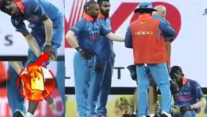 India vs Sri Lanka 2nd ODI : Hardik Pandya injures his knee while bowling