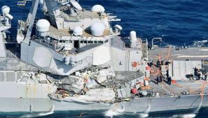 US destroyer John S McCain met with accident, 10 sailors went missing