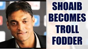 Shoaib Akhtar trolled on Twitter for making blunder