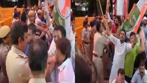 Congress protests attack on party Vice-President Rahul Gandhi