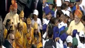 Independence Day 2017 : PM Modi celebrate with children at Red Fort, Watch Video