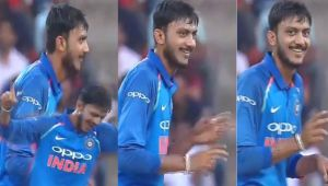 India vs Sri Lanka 3rd ODI : Axar Patel dances after dismissing Kapugedera