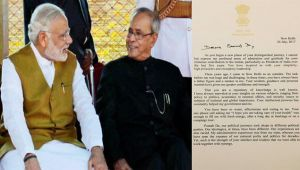 PM Modi writes heart-warming letter to Pranab Mukherjee