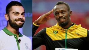 Virat Kohli sends special message to Usain Bolt ahead of his last race