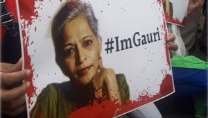 Gauri Lankesh : Candlelight vigil at India Gate to protest heinous crime