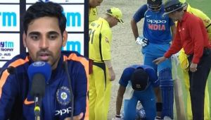 India vs Australia 2nd ODI : Bhuvneshwar Kumar speaks on hitting Hardik Pandya