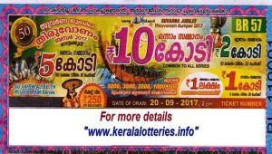 Kerala Onam Bumper lottery 2017 results announced, 10 cr prize