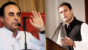 Subramanian Swamy demands Rahul to declare his faith, Christian or Hindu