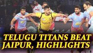 PKL 2017: Telugu Titans defeat Jaipur Pink Panthers 41-34, Highlights