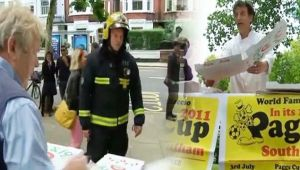 London Parson Green: Man distributes free pizza to officials engaged in rescue