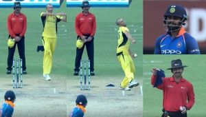India vs Australia 2nd ODI: Virat Kohli hits a boundary off a 'Dead Ball' by Agar