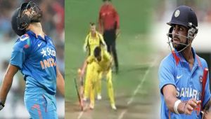 India vs Australia 4th ODI : Rohit Sharma gets run out after bad call from Virat Kohli