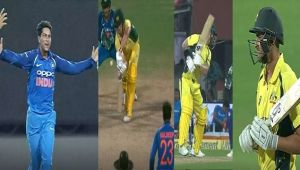 India vs Australia 2nd ODI : Kuldeep Yadav claims 1st ODI Hat Trick, Wade, Agar and Cummings